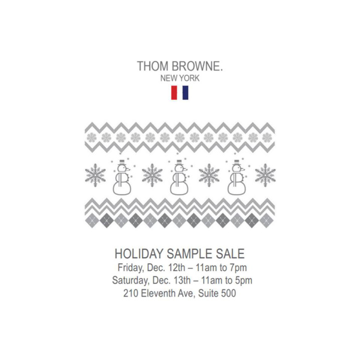 Thom Browne Sample Sale 12-14